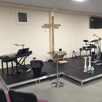 Low Level Stage for Church