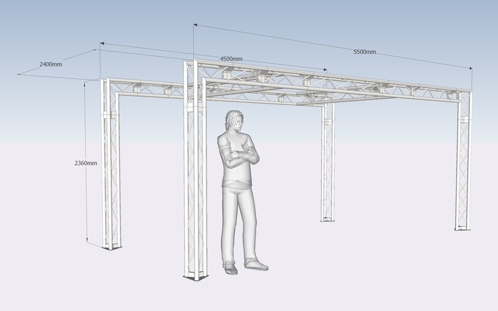 Triangle Truss Exhibition Stand Design