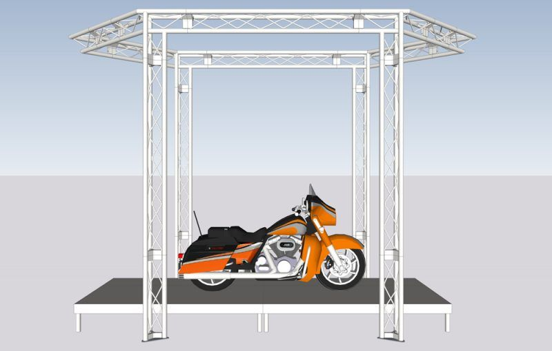 Motorcycle Showroom Truss Display Stand