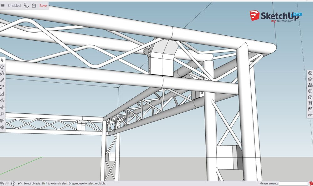 Triangle Truss Cad Design