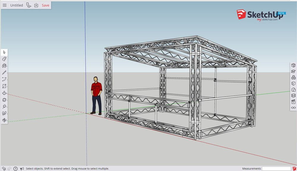 Aluminium Truss Drinks Bar Design