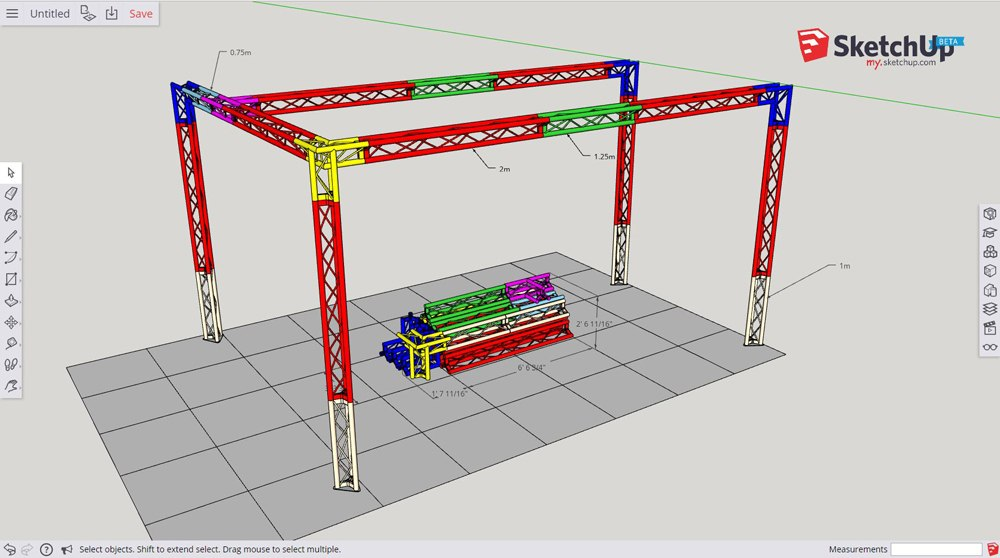 Exhibition Truss Cad Design