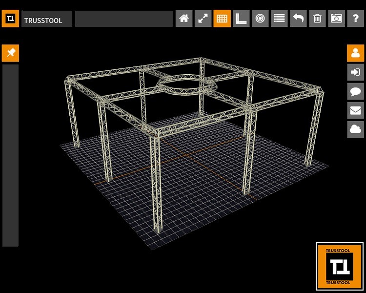 Exhibition Stand Truss 3D Cad Stage Design