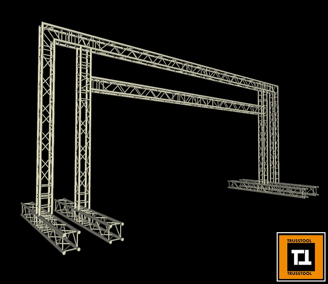 Trusstool Square Truss Race Gantry