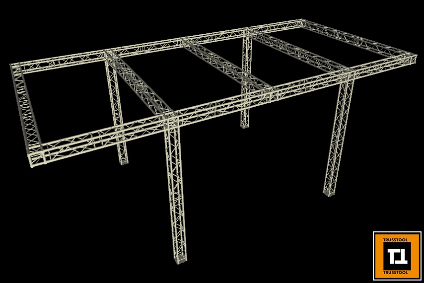 Square Truss Frame for Automotive Assembly