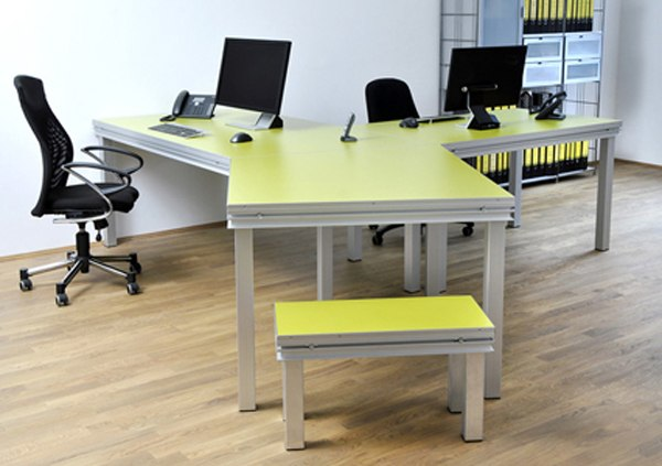 Large 3 Way Office Desk