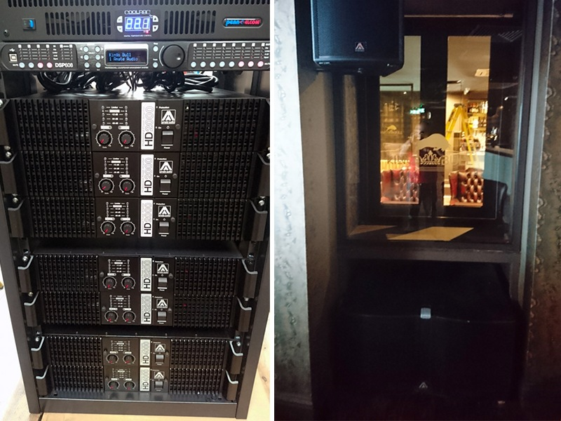 Amate Audio System at Kings Bull