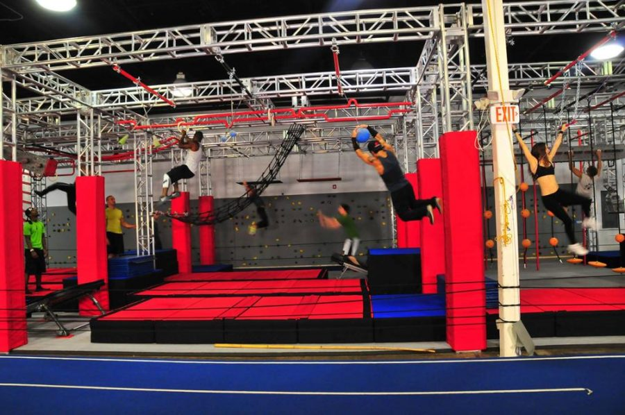 UK Truss Install Ninja Warrior Trampoline Park