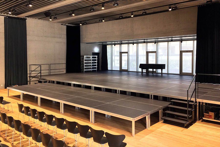 Fixed Stage Install UK Supplied Staging